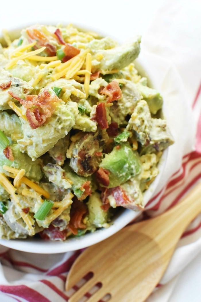 Keto Avocado Bacon Ranch Salad 1