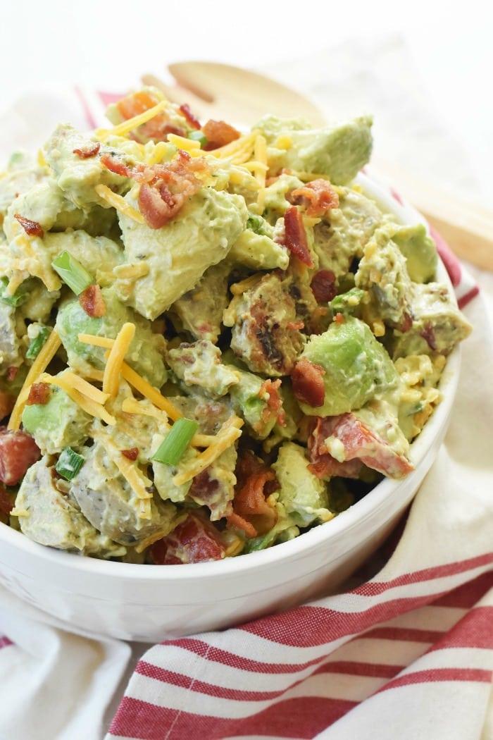 Keto Chicken Sausage Salad with Avocado 1
