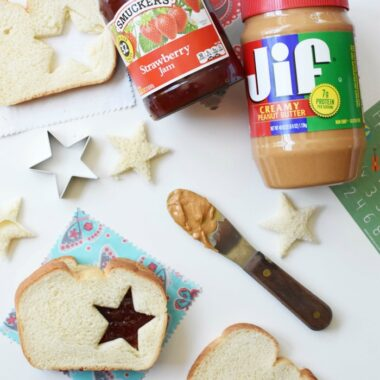 Star Peanut Butter and Jelly Sandwich Cutout 1