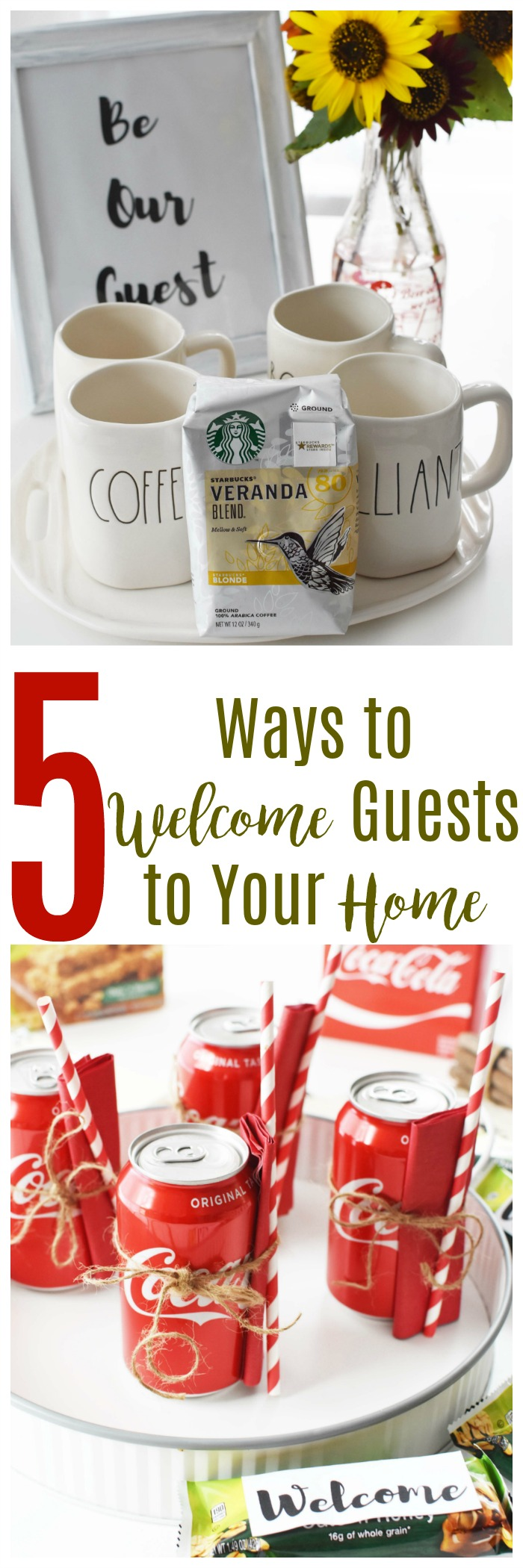 5 Ways to Welcome Guests into Your Home this Holiday Season. Looking for some simple, yet welcoming tips for hosting holiday guests? Get inspired with these easy suggestions.