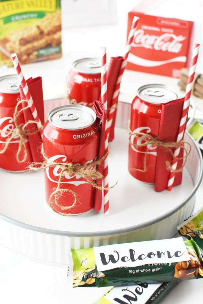 Coca Cola Straw & napkin Cans 1