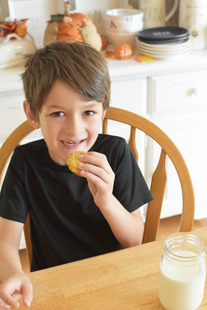Little Boy eating Snickerdoodles 1