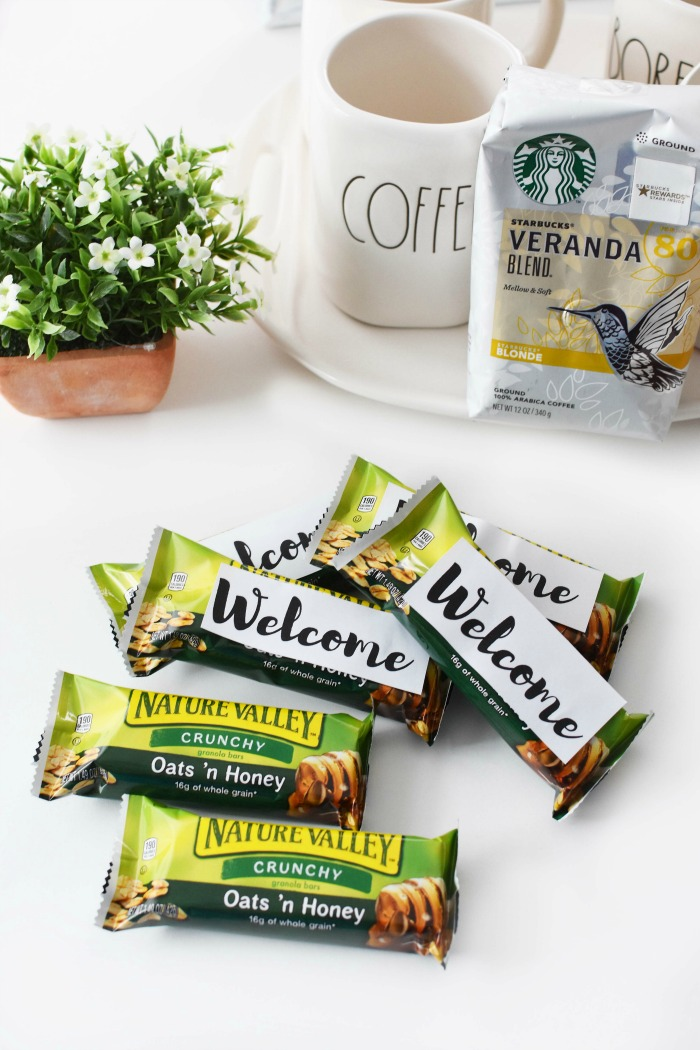 Nature Valley Bars with Welcome Tags 1