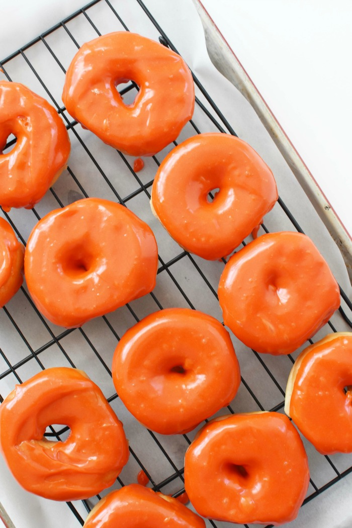 Orange Glazed Halloween Donuts 1