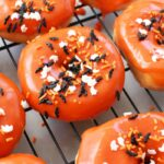 Orange Glazed Halloween Donuts recipe 1