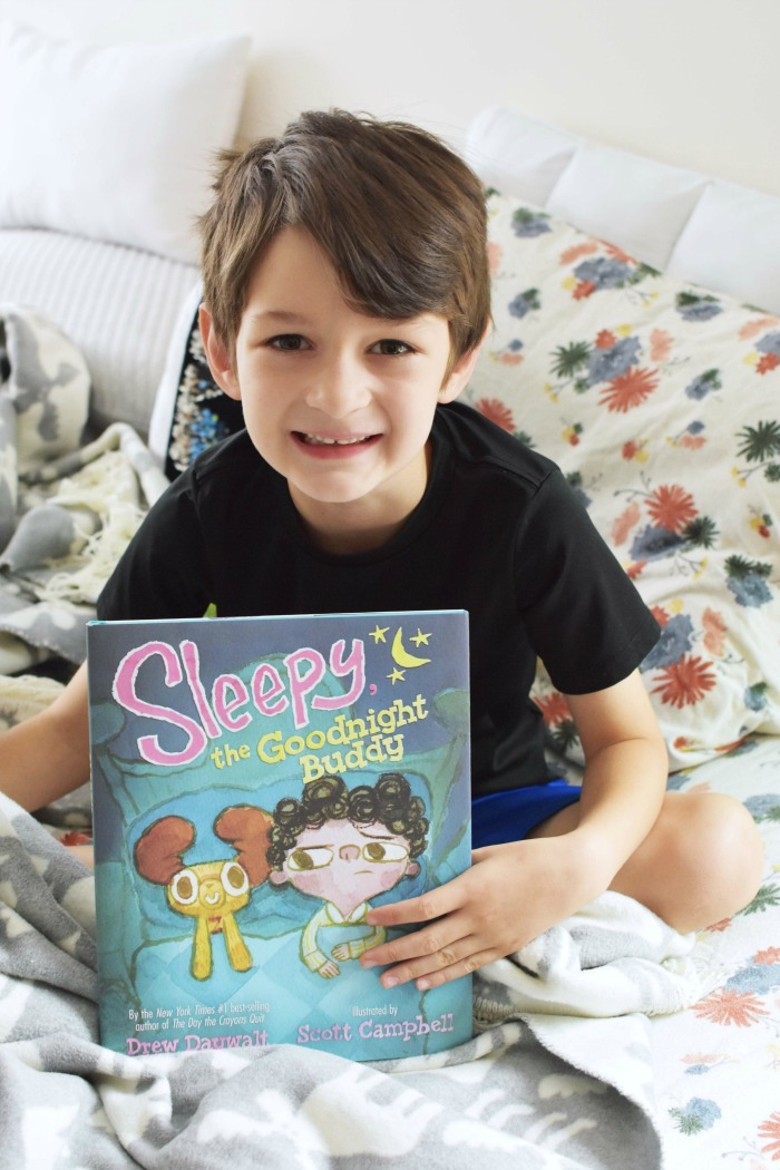 Sleepy Goodnight Buddy book with boy 1