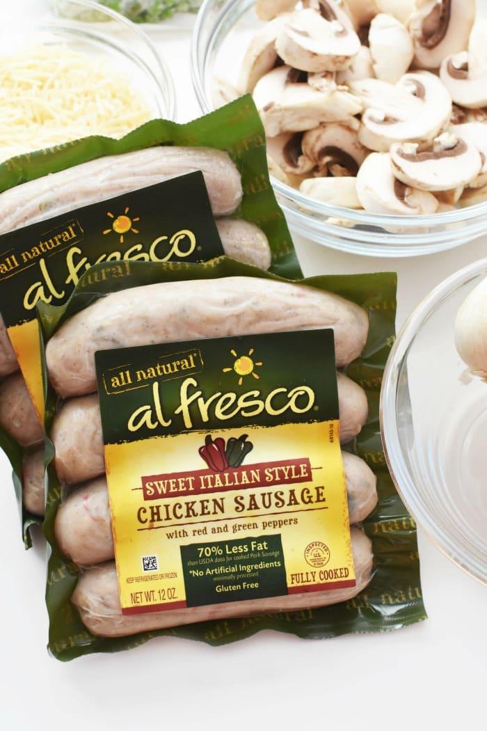 al fresco Italian Chicken Sausage packs 1