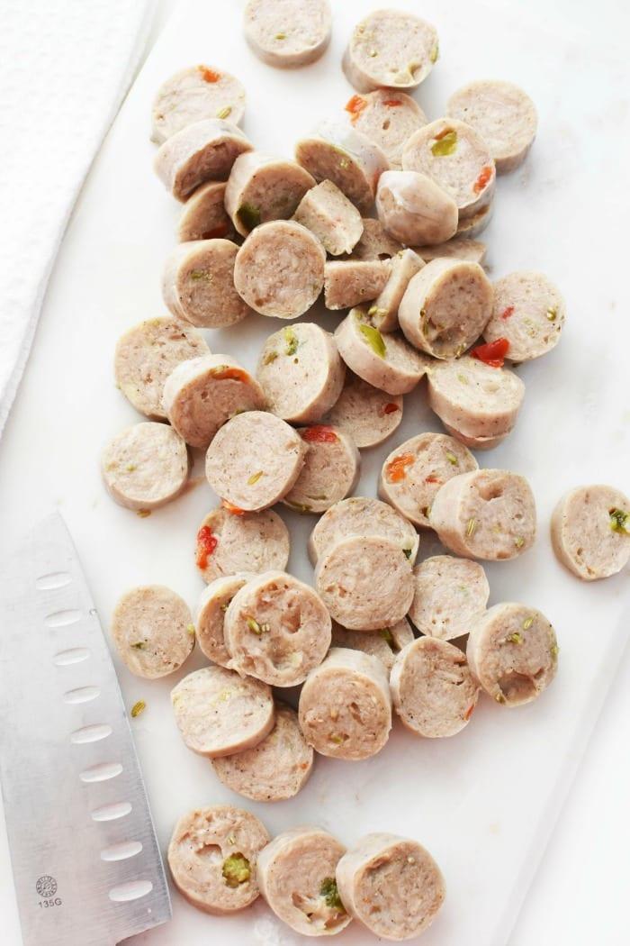 al fresco chicken sausage slivers 1