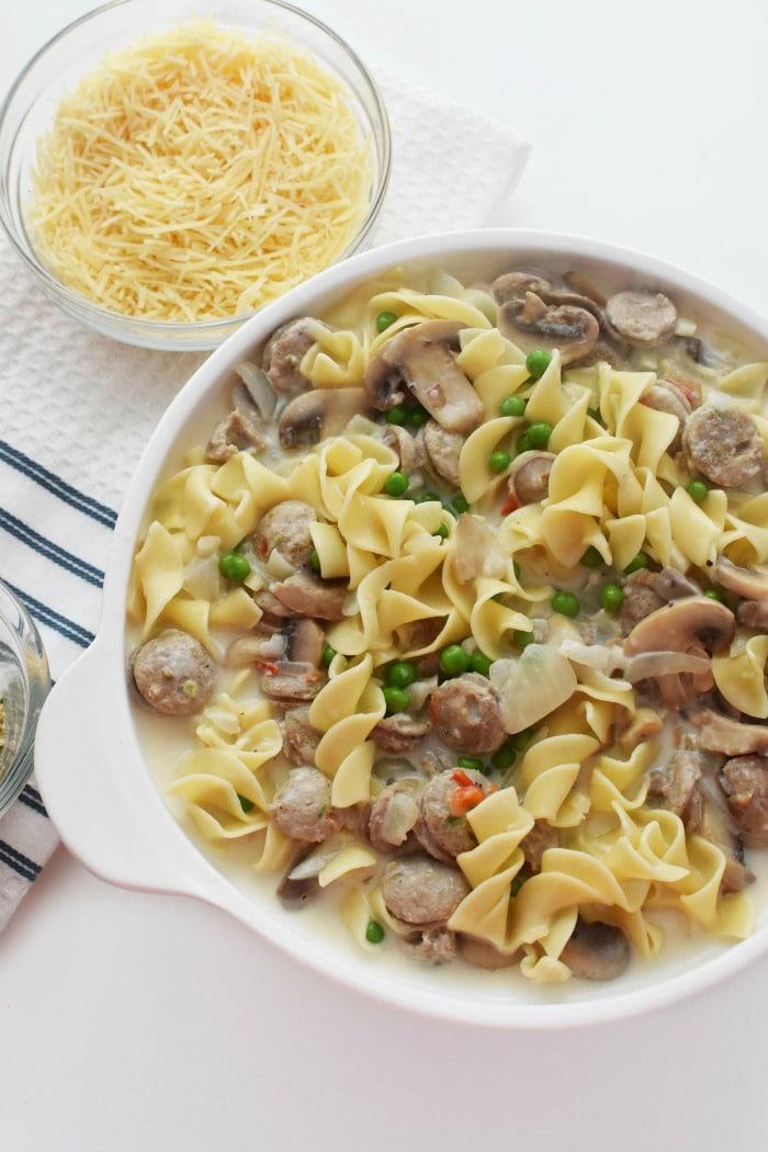 chicken sausage tetrazzini 1