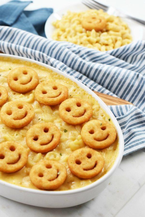 Baked Macaroni with Potato Topping