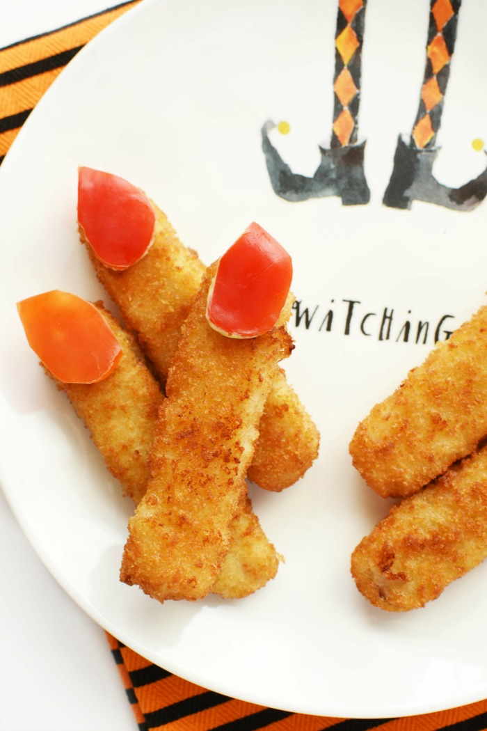 Fish Stick Finger with Red Pepper Nails 1