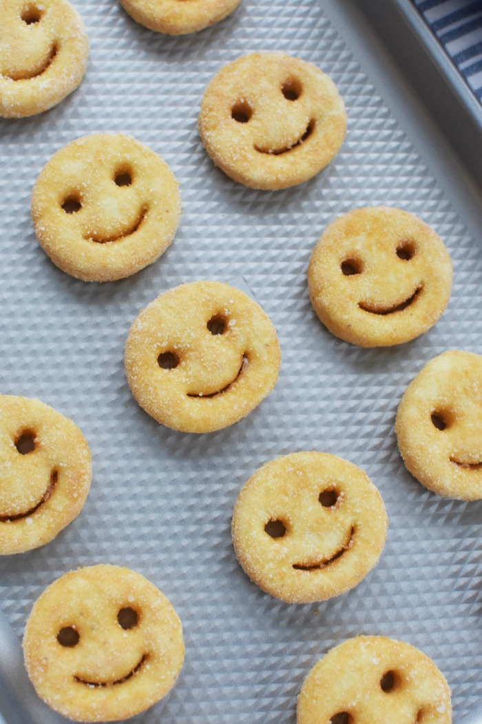 Frozen Smiles on baking sheet 1