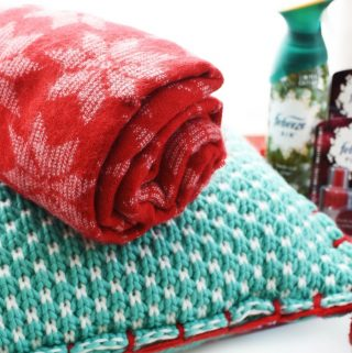 Holiday pet pillow and throw 1