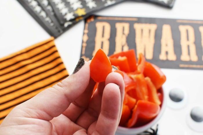 Red Pepper Finger nail DIY 1