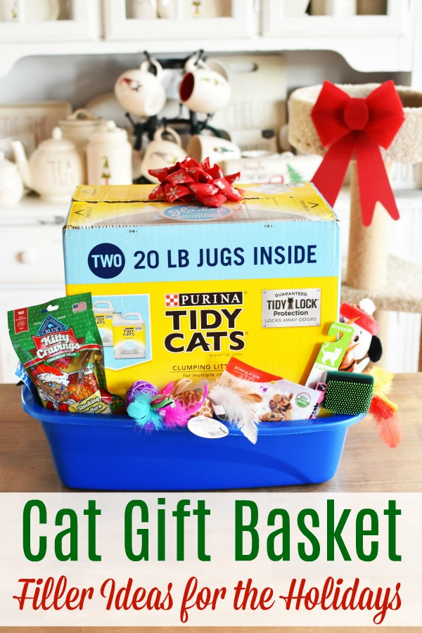 Cat Gift Basket Filler Ideas for the holidays