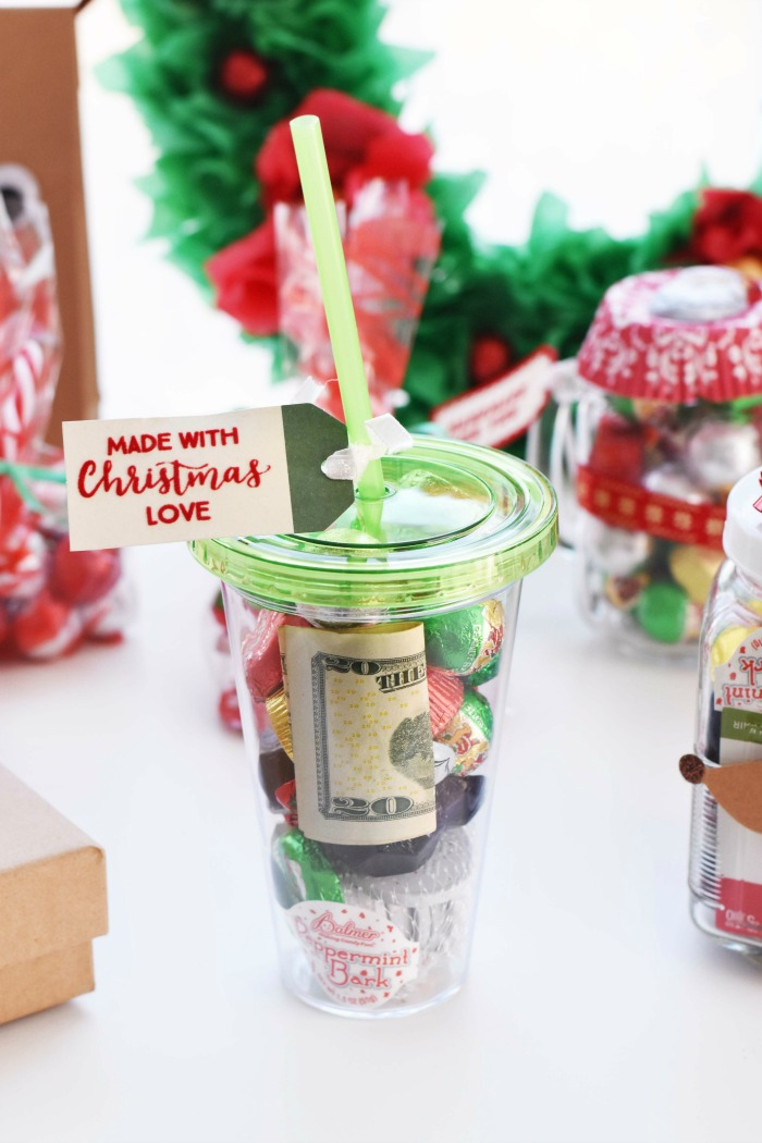 DIy Christmas Filled Tumbler Gift Idea 1