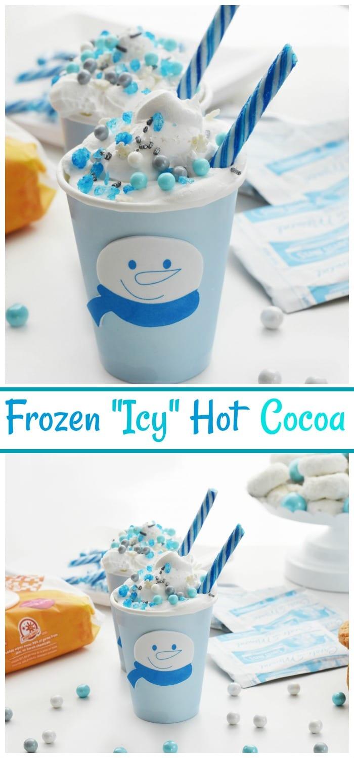 Winter Themed Frozen Hot Chocolate