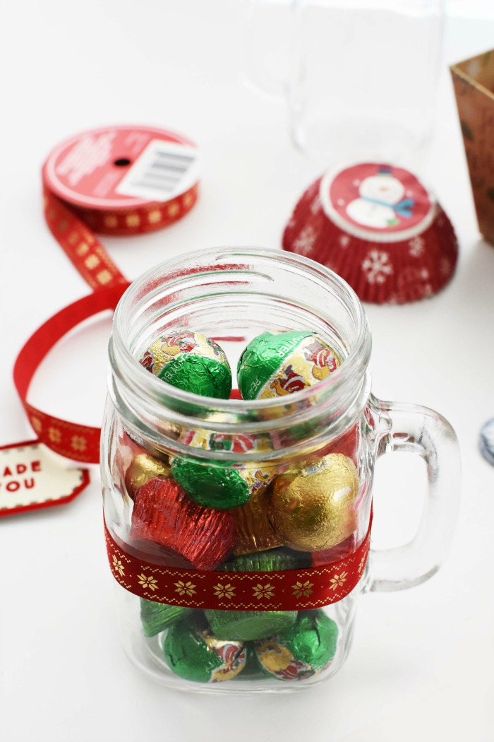 Glass Mug filled with Chocolates 1