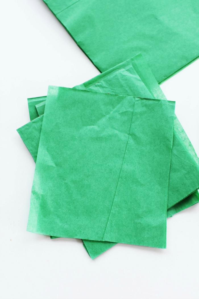 Green Tissue Paper Squares 1