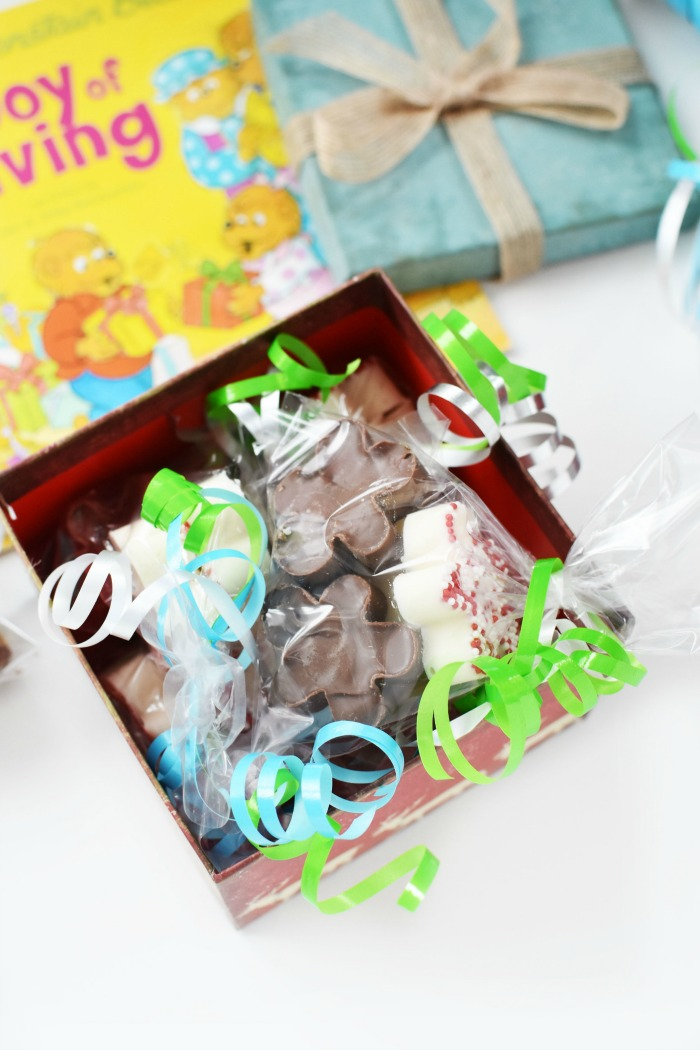 Joy of Giving book and candies 1