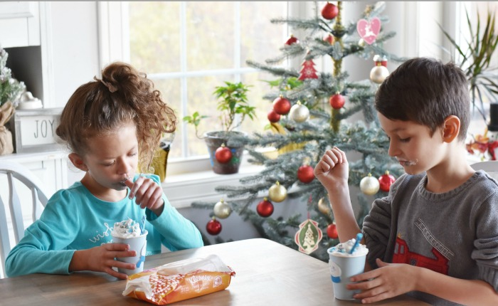 Kids drinking frozen hot cocoa 1