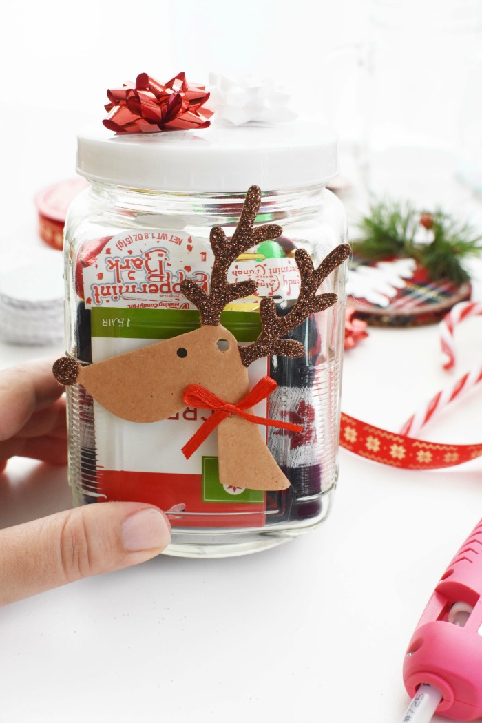 Reindeer Christmas Chocolate Gift jar 1