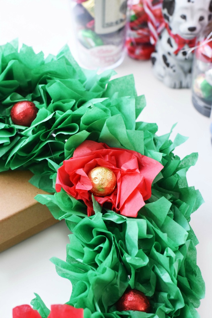 poinsettia candy wreath 1