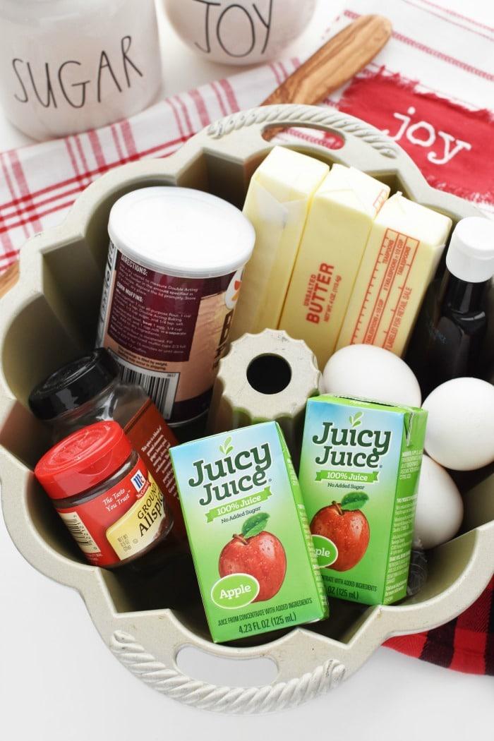 Apple Juice Cake ingredients 1