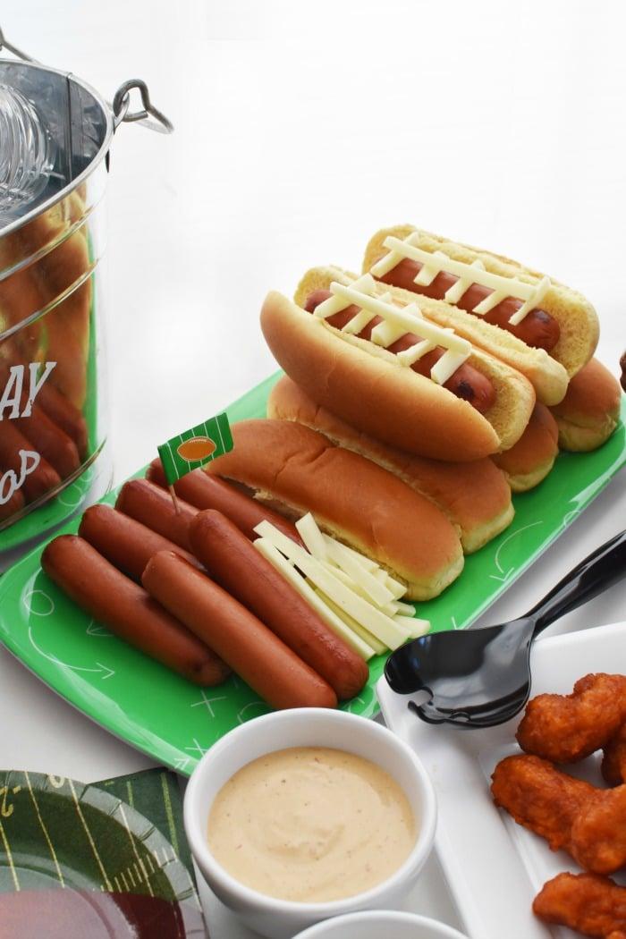 Football hot dogs 1