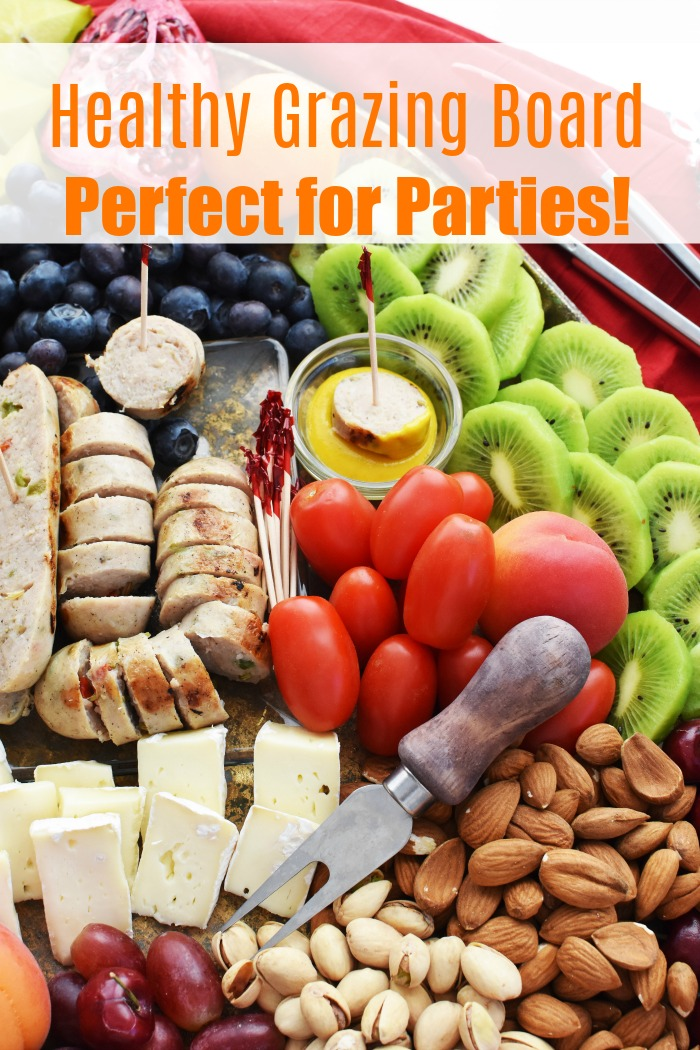 Healthy Grazing Snack Board Idea- Perfect for football, low-carb, parties, and more!