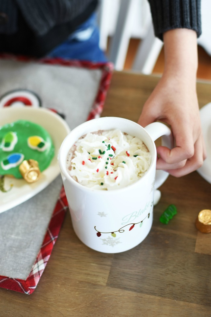 Hot cocoa with whipped cream 1