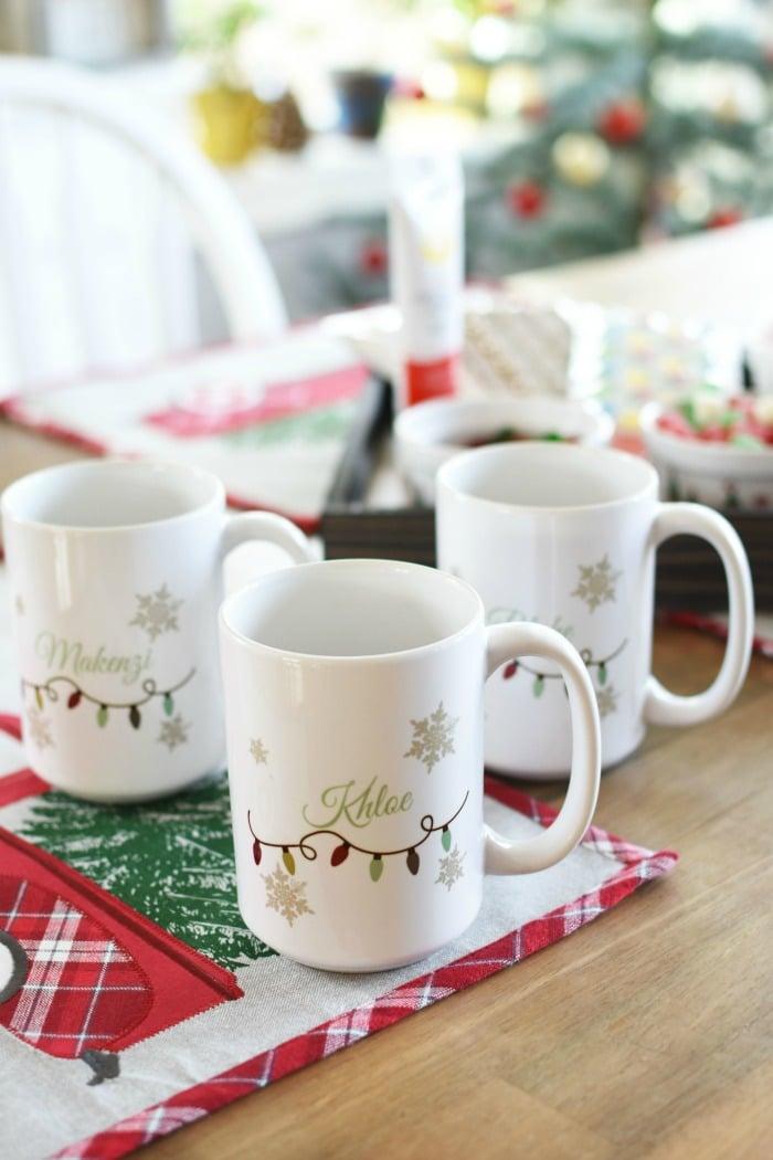 Personalized christmas light mugs 1