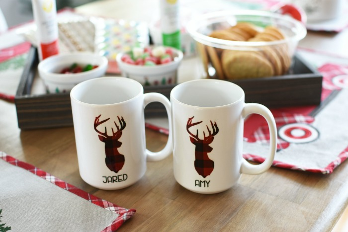 Plaid Deer Personalized Coffee mug 1