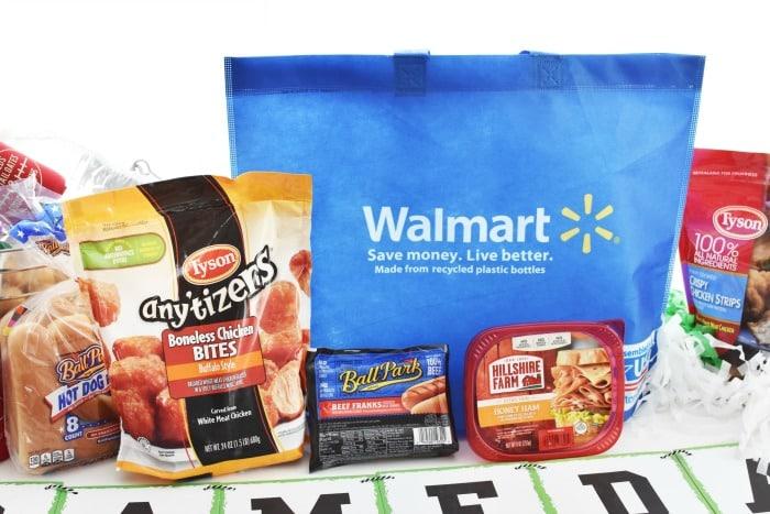 Walmart Bag on Football table 1
