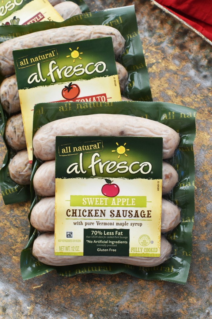 al fresco sweet apple chicken sausage 1