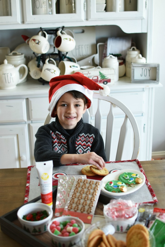 boy decorating cookies 1