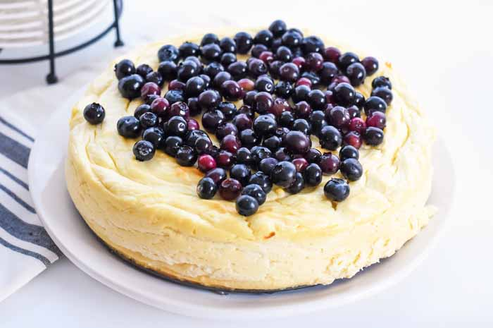 Blueberry Low Carb Cheesecake Recipe 1