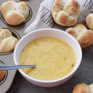 Broccoli Cheese Soup and Yeast Rolls 1