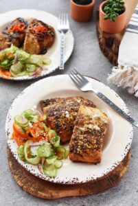 Citrus Ginger Salmon with Asian Cucumber Salad recipe 1