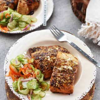 Citrus Ginger Salmon with Asian Cucumber Salad recipe 1