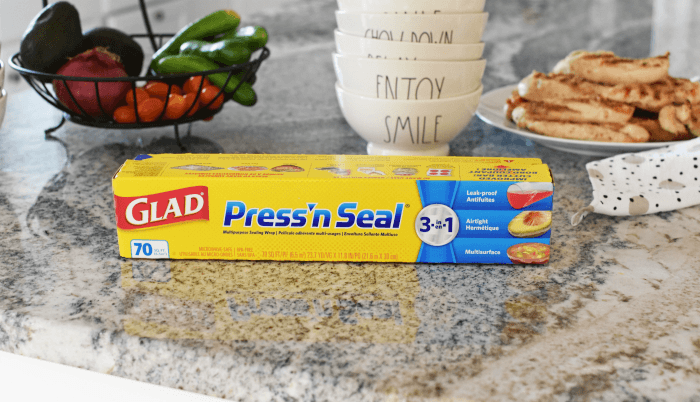 Glad Press' n Seal with fresh veggies