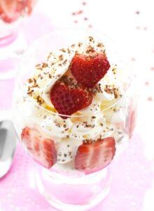 Keto Strawberry & Whipped Cream Dessert 1