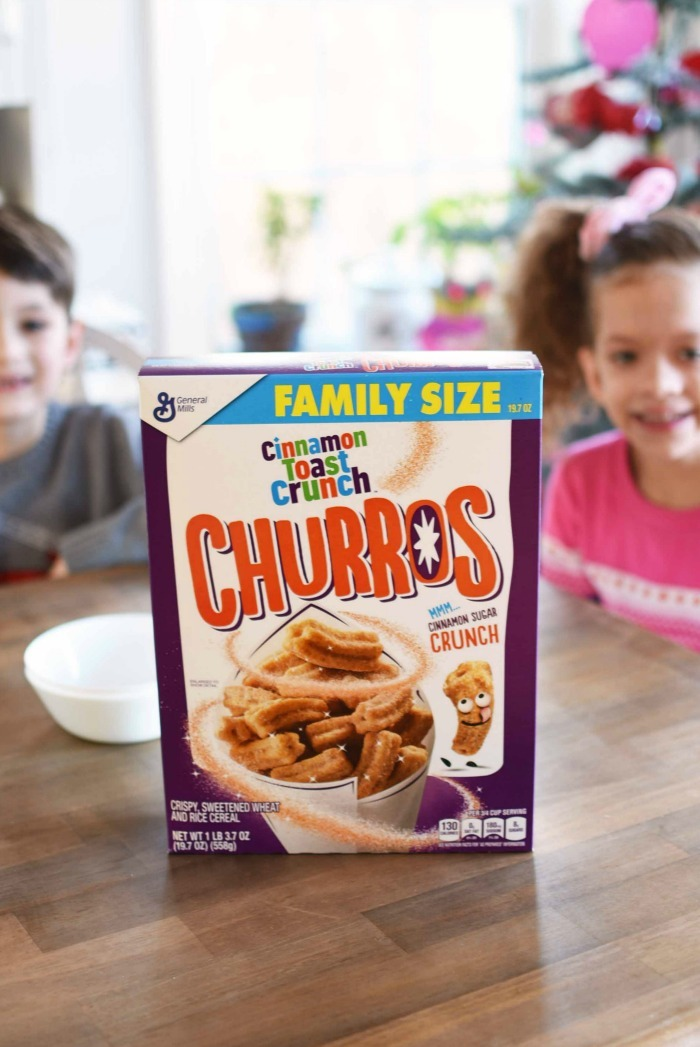 family size churros cereal