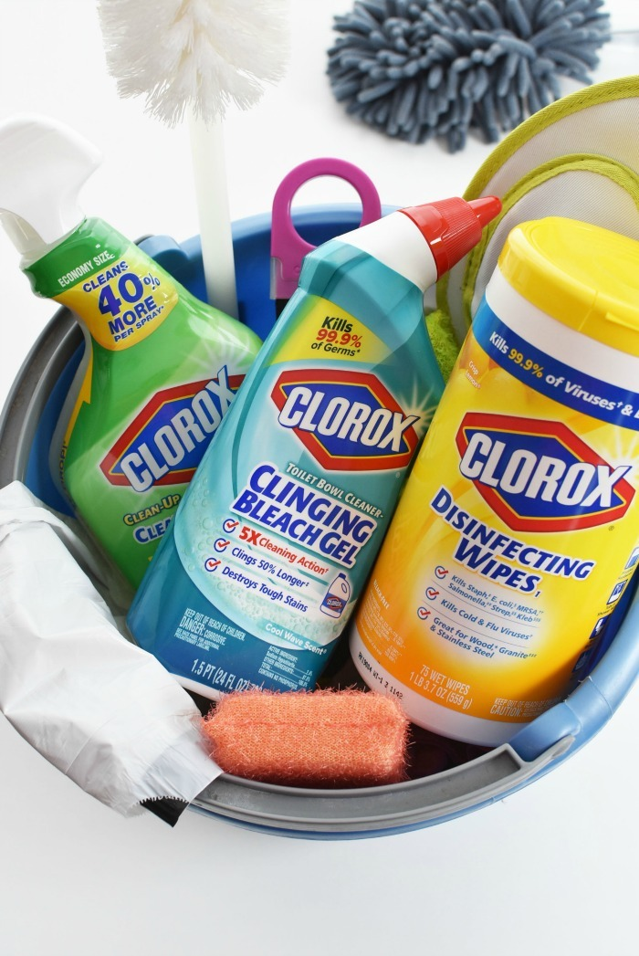 Clorox Cleaners in Bucket 1