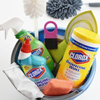 Clorox Cleaners in a bucket 1