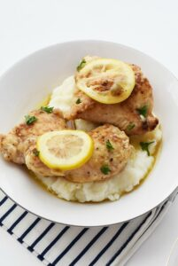 Lemon Chicken with Mashed Potatoes 1