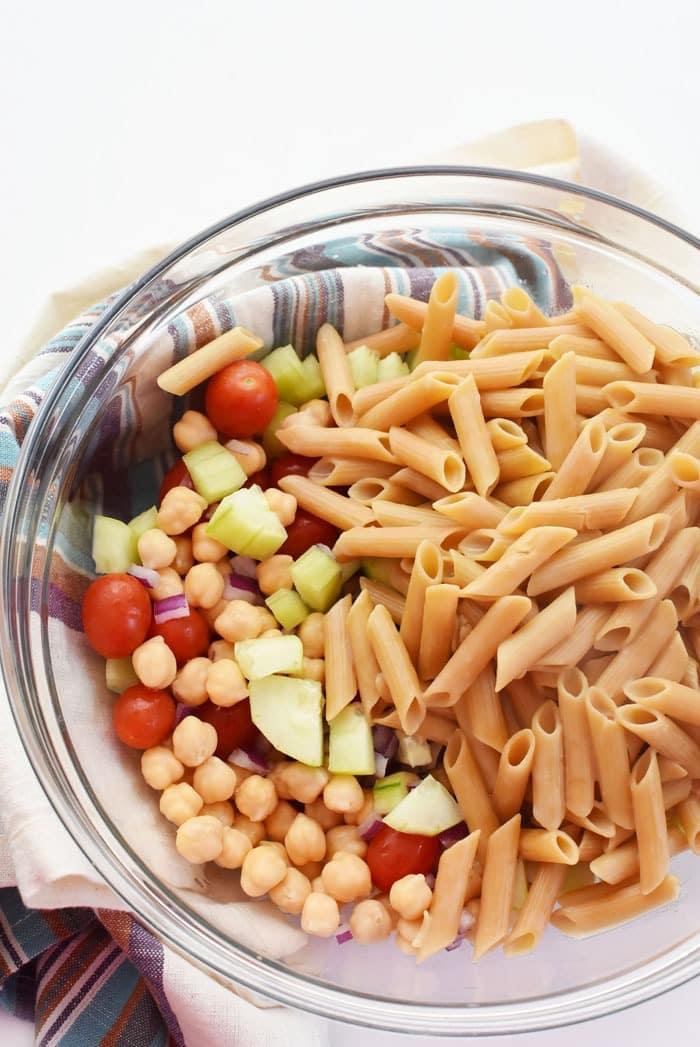 Lentil Pasta Salad Ingredients 1