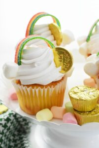Gold Coin Rainbow Cupcakes 1