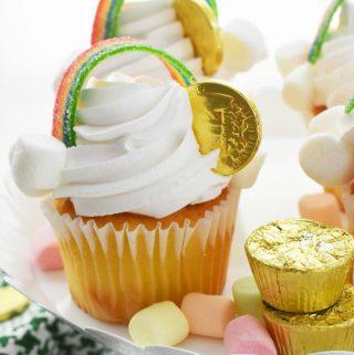 Gold Coin Rainbow Cupcakes 1