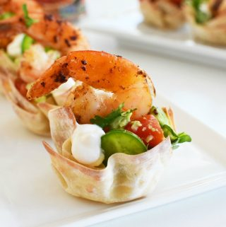Shrimp ChimiChanga Cups